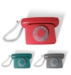 Old phone in different colors vector
