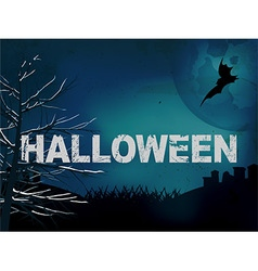 Halloween creepy dark blue background vector