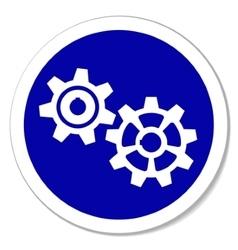 gears sticker vector image