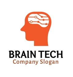 Brain tech design vector