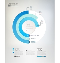 Modern abstract infographics elements vector