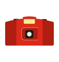 Best camera flat icon vector