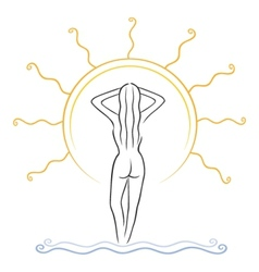 tanning symbol vector image