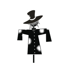 Scarecrow icon black vector