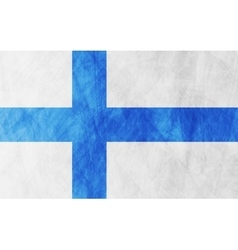 Finnish grunge flag background vector
