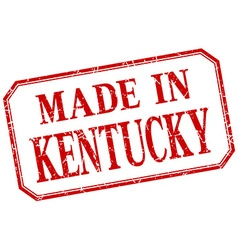Kentucky - made in red vintage isolated label vector