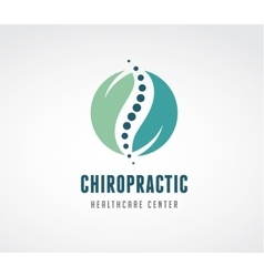 Chiropractic massage back pain icon vector image