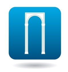 Rectangular arch icon simple style vector