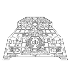 Casket for jewelry vector