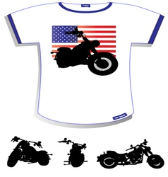 American Flag T-shirt vector image