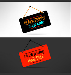 black friday sale promotional banner vector image vector image