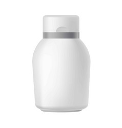 Clear cosmetics bottle vector