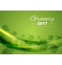 Color of the year 2017 greenery waves background vector