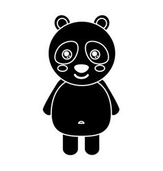 cute panda bear animal standing cartoon wildlife vector image