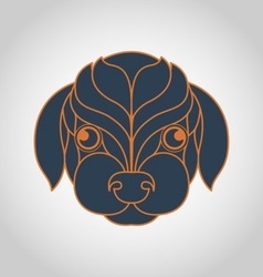 Dog logo vector image