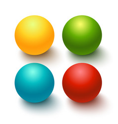glossy spheres buttons set vector image vector image