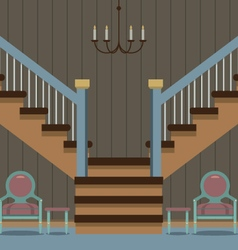 Hallway Decoration vector image vector image
