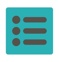 Items flat grey and cyan colors rounded button vector