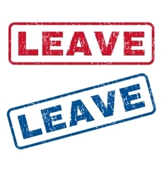 Leave Rubber Stamps vector image