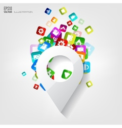 Location icon application buttonsocial media vector