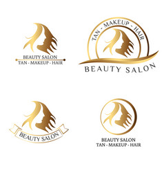 logo for beauty salon spa salon beauty shop vector image vector image