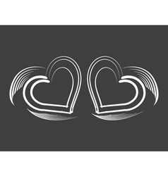 lovely hearts vector image vector image