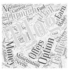 Make money blogging word cloud concept vector