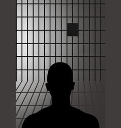 Man in jail vector
