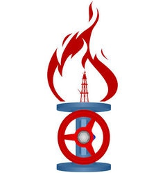 Natural gas industry vector