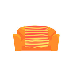 orange sofa living room or office interior vector image vector image