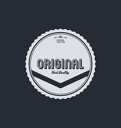 original badge vector image