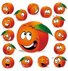 peach cartoon vector image