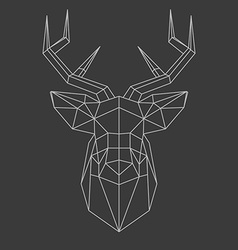 Polygonal head of deer vector
