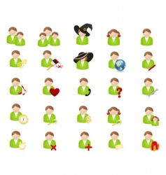 set of icons avatars vector image vector image