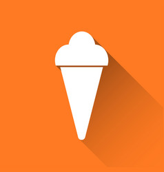 Simple ice cream icon holiday symbol vector
