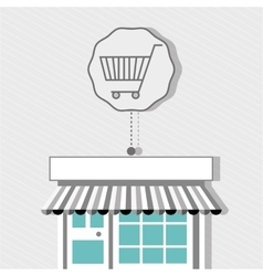 Shopping cart buy discounts vector