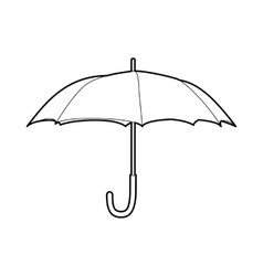 Protection umbrella icon outline style vector