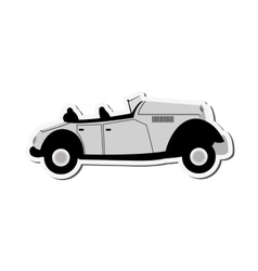 Vintage convertible car icon vector