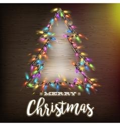 Christmas tree template EPS 10 vector image