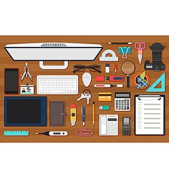 Office work equipment vector
