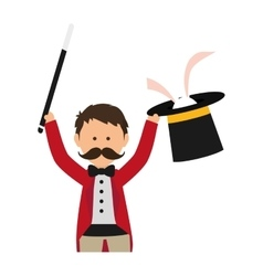 Magician circus cartoon vector image