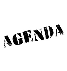 Agenda rubber stamp vector