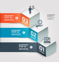 Modern infographics business step options vector image