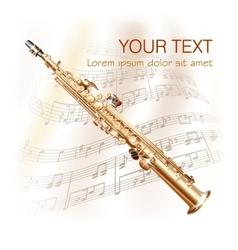 Classical soprano sax vector