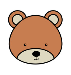 Cute bear woodland icon vector