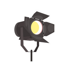 spotlight with directional light vector image
