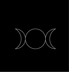 Triple goddess- neopaganism vector