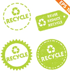 Stamp sticker recycled tag collection - - e vector