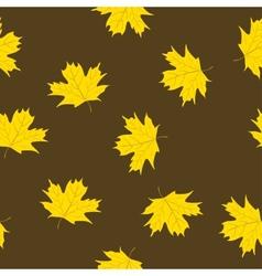 Maple Leaves Semless Pattern vector image
