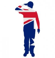 Australian salute vector image